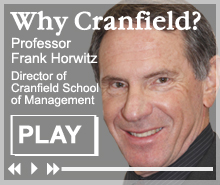 Professor Frank Horwitz - Why Cranfield?